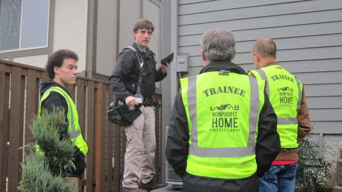 Learn by watching a real home inspection during home inspection field training.