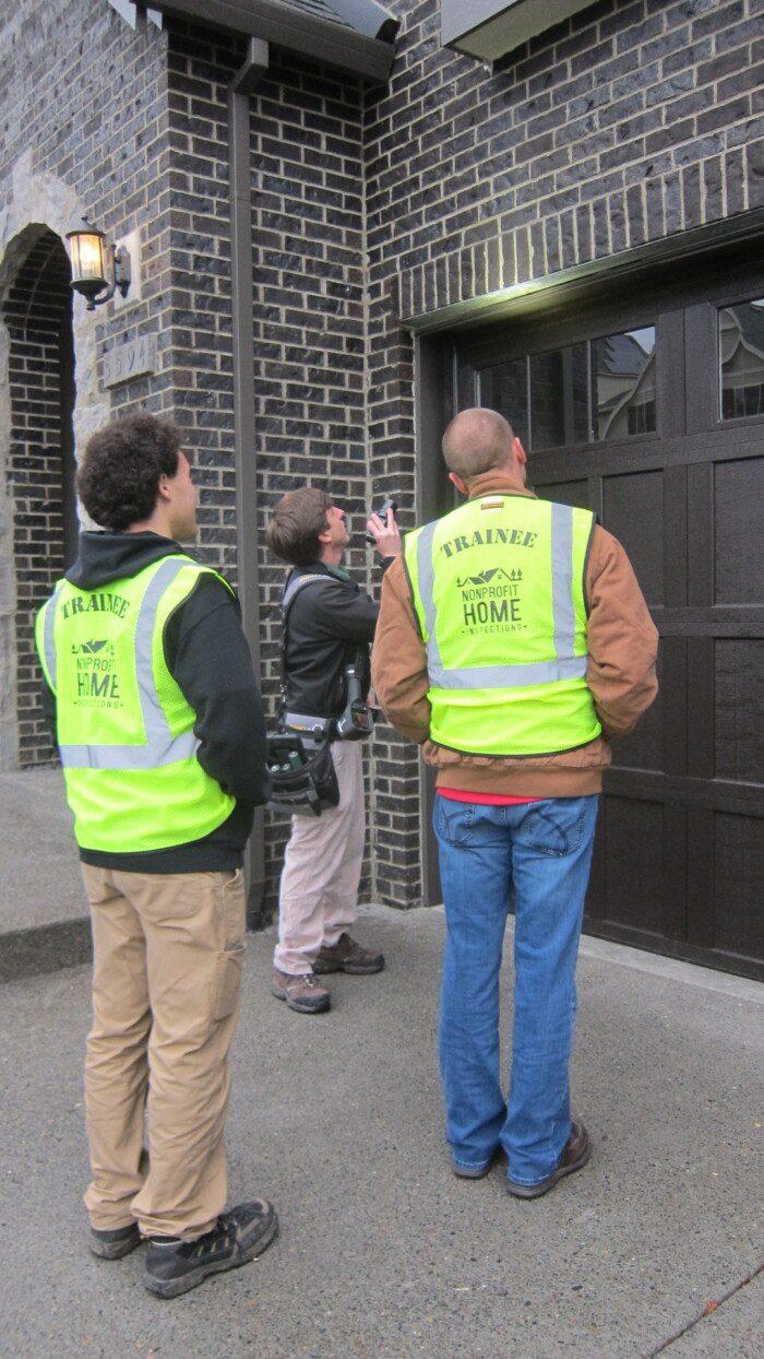 Job shadow licensed home inspectors in Washington and Oregon.