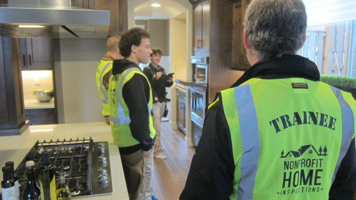 Ride along home inspector training in Oregon and Washington.