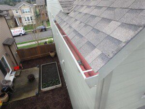 Birds-eye view of roof.