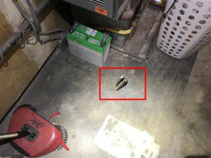 Copper tubes in the basement can be indicative of a buried fuel oil tank. Getting an oil tank sweep is critical for determining the presence or absence of an underground fuel oil tank.