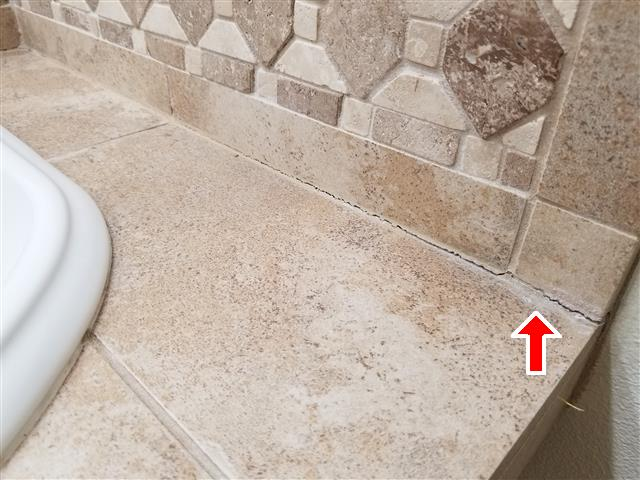 Counter grout cracks found during home inspection